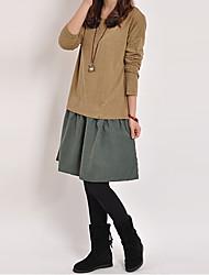 Delargent Women's Fashion Matching Long Sleeve Dress