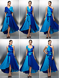 Prom/Formal Evening Dress - Multi-color A-line Asymmetrical Jersey