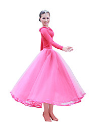 Ballroom Dance Outfits Women's Performance / Training Satin / Tulle Long Sleeve