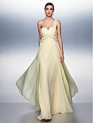 Formal Evening Dress - Daffodil Plus Sizes / Petite A-line One Shoulder Floor-length Chiffon