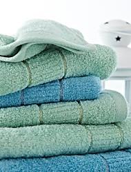 3pcs sensleep® toallas de mano Pack, diseño toalla de mano de algodón azul claro o verde geométrico 100%