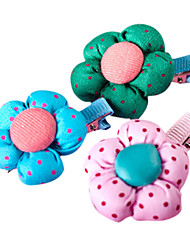 Hairpin Beautiful Flower Wave Point for Pet Cat/Dog(Random color)