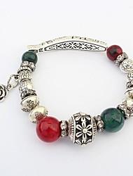 forme de perles de cornaline de poisson cru des femmes assembler bracelets floraux extensibles de charme