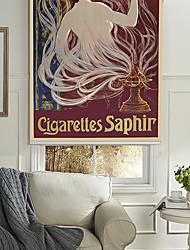 PUBLICITÉ cigarettes saphir rouleau d'affiches ombre