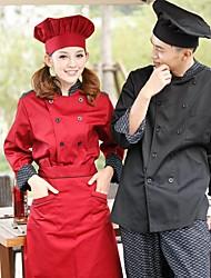 Ресторан Униформа с длинным рукавом шеф-повар пальто с модной рыбы