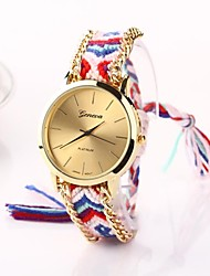 Women Big Circle Dial  National Hand Knitting Brand Luxury Lady Watch C&D-273