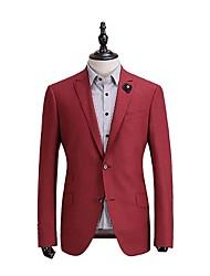 uni rouge adapté veste de costume en laine ajustement