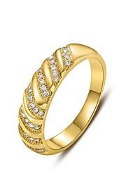 moda 18k inclinação diamanted cobre anéis de instrução das mulheres (1 pc)