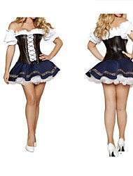 Classic Mediaeval Terylene Dress Women's Oktoberfest Costume