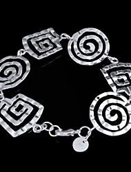 Women's Fashion Mosquito Coil Design Silver Plated Bracelet