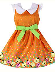 Girl's Organic Cotton Dress , Summer Sleeveless