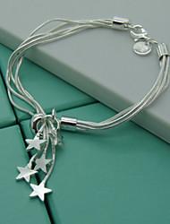 чистый высококачественный посеребренные браслет элегантный