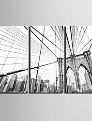 E-Home® Декоративная роспись на холсте, Город, инсталляция из трех картин