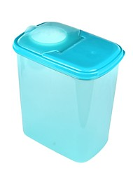 Household Practical Dry Cargo Seal Leak-proof Food Case Container - Transparent Blue (2L)