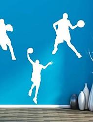 pegatinas de pared Tatuajes de pared, jugadores de básquet contemporáneos pegatinas de pared de PVC (7)