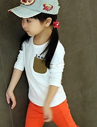 Girl's Tee Cotton Blend Winter / Fall / Spring