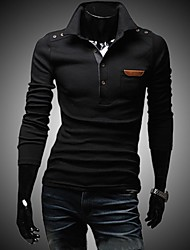 Men's Vintage Buttons Decorative Chest Skin Long Sleeve T-shirt
