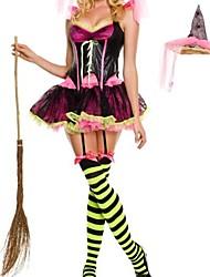 brillante rosa strega delle donne costume di carnevale