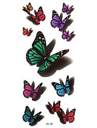 Tatuaggi adesivi - Serie animali Da donna/Girl/Adulto/Teen - #(5) - Modello - di Carta - #(24cm*9.5cm) - Multicolore - Fantasia/Waterproof