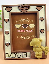 7 Inches European Teddy Bear Photo Frame(Random Colors)