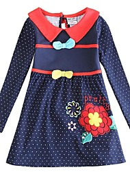 Girl's Black Dress Cotton Winter / Spring / Fall