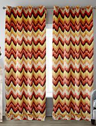 twopages® deux panneaux Flamboyant cassé rideau de motif de ligne