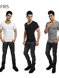 roupas masculinas da marca abetos nova moda esporte casual camiseta 100% algodão com decote em v camisas camisetas homens