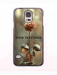 Personalized Phone Case - Rose Design Metal Case for Samsung Galaxy S5
