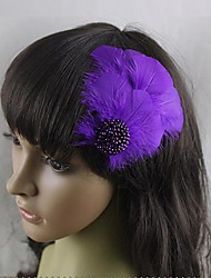 Glow Feather Carnival Headdress Hairpin