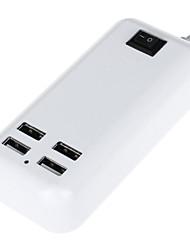 3000mAh 4-puertos tiras 15w de corriente USB de carga de escritorio (100 ~ 240v enchufe / eu) (longitud: 145cm)