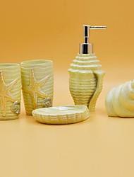 banho conjunto de acessórios, resinas da série concha do mar 5 ternos