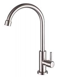 sus304 de nickel contemporaine en acier inoxydable simple trou poignée simple robinet de cuisine