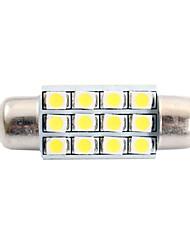 36mm 3W 150LM 6000K 12x3528 SMD LED Weiß für Auto-Lesen / Kfz-Kennzeichen / Türleuchte (DC12V, 1Stk)