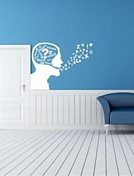adesivos de parede decalques de parede, contemporâneas de linguagem de expressão de parede pvc etiquetas