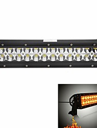 "KAWELL 72W 13.5"" White and Amber Color Light LED for ATV/boat/suv/truck/car/ Off Road Led Work Combo Beam Light Bar"
