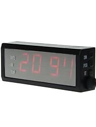 LED10 Digital Multifunction LED Car Clock & Thermometer (Black)