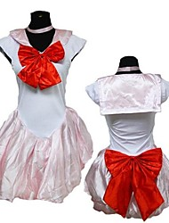 poliéster de color rosa chica caliente sailor moon cosplay traje de halloween