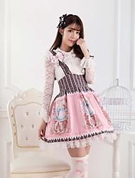 rosa dulce lolita rosa alice princesa princesa vestido precioso cosplay