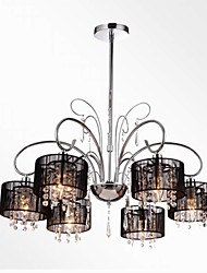 40w Chandelier ,  Modern/Contemporary Chrome Feature for Crystal Metal Bedroom / Dining Room / Study Room/Office / Hallway