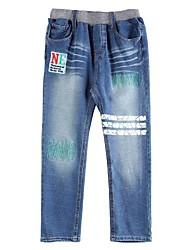 Jungen Jeans - Baumwolle / Elasthan / Jeans Denim Patchwork Winter / Herbst / Frühling