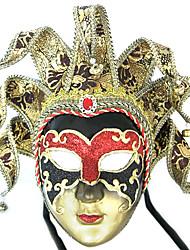 carta fatta a mano mache stile veneziano maschera di carnevale polvere glitter