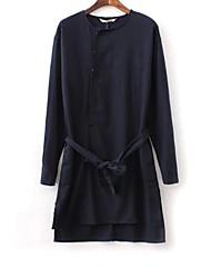 Women's Blue/Yellow Blouse Long Sleeve