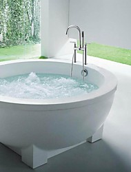 Shower Faucet / Bathtub Faucet - Contemporary - Handshower Included - Brass (Chrome)