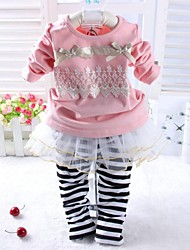 Girl's Sets Two Pieces Sets 2015 Spring Baby Sets Tshirt and Skirt Pants Baby Girl Clothing Sets