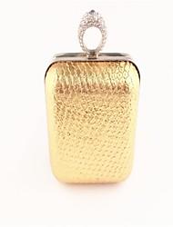 Frauen Prominente goldenen Abendtasche Leder