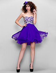 A-Line Sweetheart Short / Mini Chiffon Homecoming Prom Dress with Beading by TS Couture®