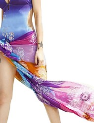 Women Colorful HOBO Sarong Skirt Scarf Swimwear