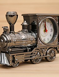 decoración de la oficina a casa la manera del tren de ferrocarril de la vendimia reloj de escritorio máquina de vapor