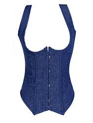сексуальный джинсовые женские грудью корсет Shapewear