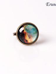 Eruner®Handmade Galaxy Ring Glass Dome Cabochon Nebula Space Ring